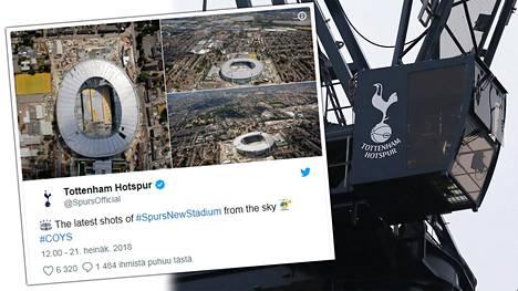 Tottenham Spursille rakennetaan uutta stadionia.