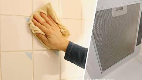 Moni keskittyy kotonaan vain keskilattian siivoukseen. Muista myös pienemmät yksityiskohdat, kuten liesituulettimen suodatin tai kaakeleiden saumat.