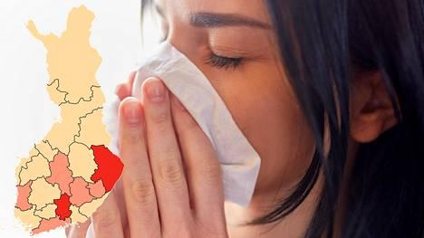 Influenssaa on todettu monin paikoin maata kaiken ikäisiltä.