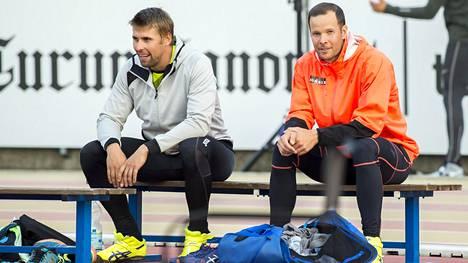 Antti Ruuskanen ja Tero Pitkämäki ovat Paavo Nurmen kisojen vakiokävijöitä.
