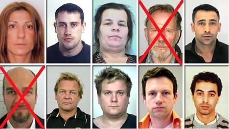 Keskusrikospoliisi julkisti listan tämän kesän etsityimmistä henkilöistä. Mukana oli alun perin kymmenen kansainvälisesti etsintäkuulutettua. Pian nimien ja kuvien julkistamisen jälkeen kaksi etsittyä saatiin kiinni.