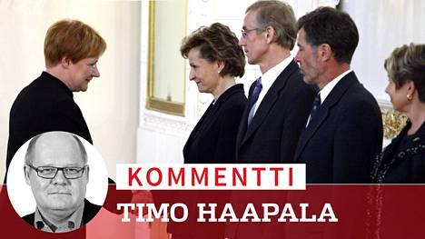 Tarja Halonen myönsi eron Anneli Jäätteenmäen hallitukselle 24. 6. 2003, mutta keskustelu Halosen roolista Jäätteenmäen kaataneen Irak-kohun taustalla jatkuu vieläkin.