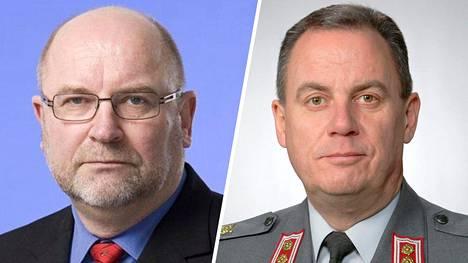 """Kansallisarkistoa """"natsijahdista"""" syyttäneet everstit Kalle Liesinen ja Pekka Holopainen eivät jääneet tuleen makaamaan."""