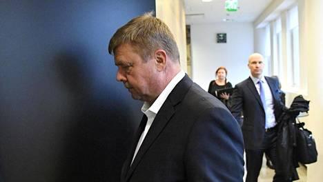 Talvivaaran toimitusjohtajana ja hallituksen puheenjohtajana toiminut Pekka Perä kaivosyhtiö Talvivaaran johdon sisäpiiritiedon väärinkäyttöä koskevan jutun käsittelyssä Helsingin hovioikeudessa 22. lokakuuta 2018.