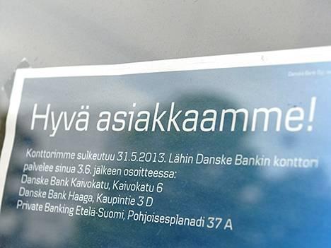 Danske Bankin asiakkaat ovat tympiintyneet konttoreiden sulkemiseen.