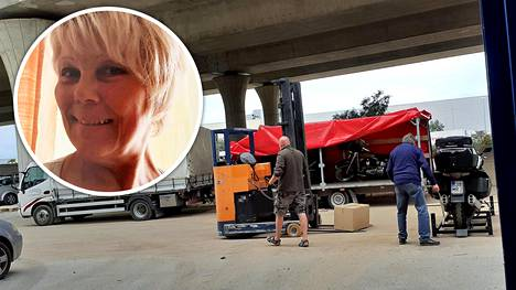 Kirsi Hyvärinen on palaamassa Ari Rannan kuorma-auton kyydissä Euroopan läpi Fuengirolasta Suomeen.