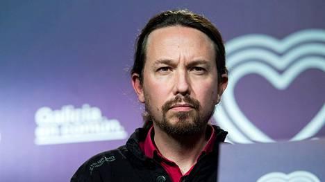 Podemosin johtaja, Pablo Iglesias.