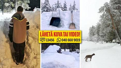 Samaan aikaan kun eteläisen Suomen väki tuskailee lumettomuutta, Lapissa todistetaan lähes ennätyksellisiä lumen syvyyksiä.