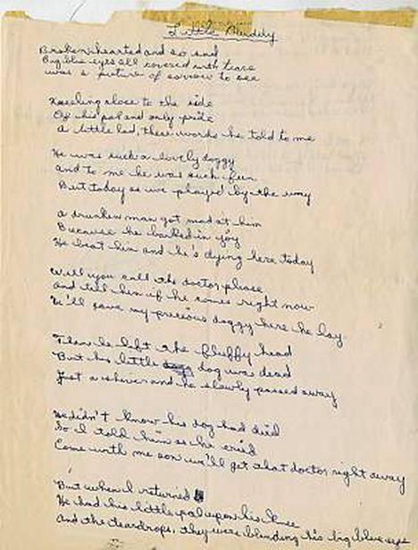 Tältä näyttää Bob Dylanin nuoruudenrunon loppu.