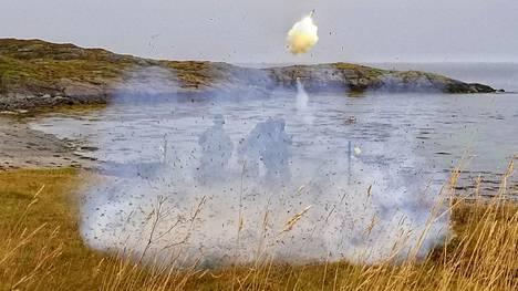 Amerikkalaiset merijalkaväen sotilaat laukaisivat Stinger-ohjuksen Norjassa viime viikolla.