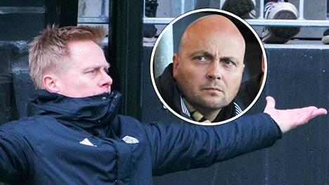 Seurapomo Janne Kotamäki (oik.) luottaa valmentaja Tommi Kautoseen.