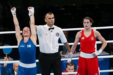 Mira Potkosen mitali varmistui, kun hän voitti puolivälierässä lyömättömänä pidetyn Irlannin Katie Taylorin.
