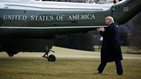 Donald Trump matkusti torstaina Washingtonista Floridaan.