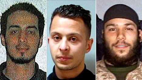 Najim Laachraouin (vas.) ja Osama Krayemin (oik.) epäillään tekeytyneen pakolaisiksi. Salah Abdeslam avusti heitä.