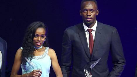 Almaz Ayana ja Usain Bolt ovat vuoden 2016 parhaat yleisurheilijat. He saivat palkintonsa Monacossa järjestetyssä gaalassa.