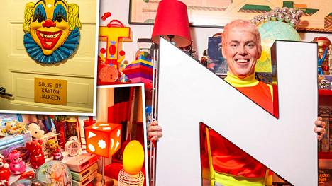 Toni Kitti on koristanut kotiaan itse tuunaamillaan ja kehittelemillään sisustustavaroilla.
