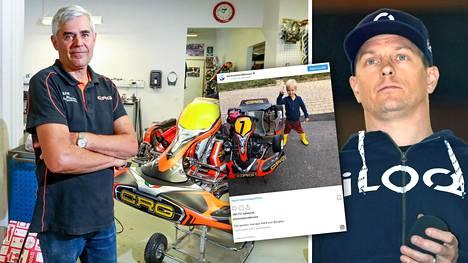 Kimi Räikkönen kokosi Robin-poikansa ensimmäisen kartingauton luottomiehensä Lasse Jaatisen, 66, kanssa.
