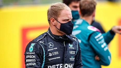 Valtteri Bottas Silverstonessa torstaina.