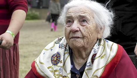 Seidi Kuusisto oli Provinssorockin vanhin kävijä.