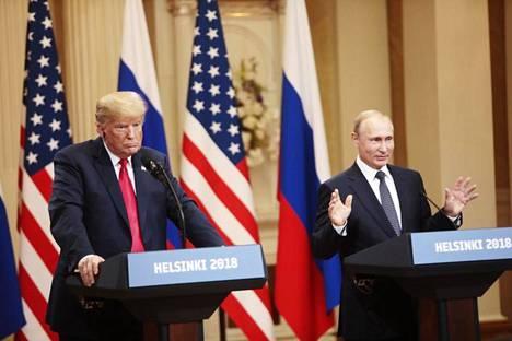 Viime kesänä Putin ja Yhdysvaltojen presidentti Donald Trump tapasivat Helsingissä.
