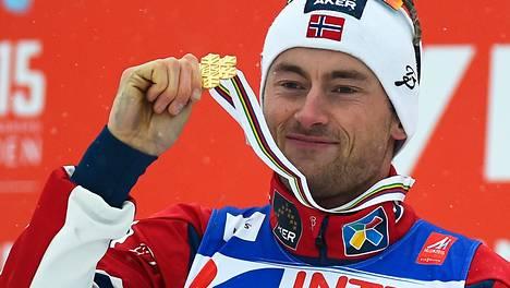 Petter Northug voitti 50 kilometrin MM-kultaa Falunin MM-kisoissa eilen.