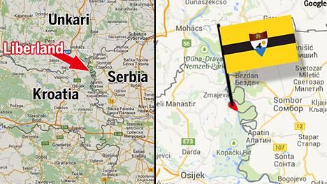 """Liberandiksi itsensä nimennyt """"mikrovaltio"""" on vain 7 neliökilometrin kokoinen maa-alue Serbian ja Kroatian välimaastossa Tonavajoen länsirannalla."""