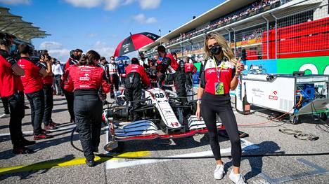 Antonio Giovinazzin auto lähtöruudukossa viime viikonlopun USA:n GP:ssä.