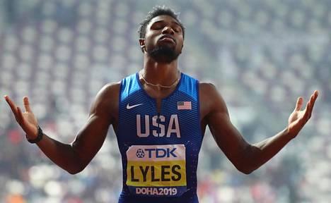 Noah Lyles otti omansa miesten 200 metrillä.
