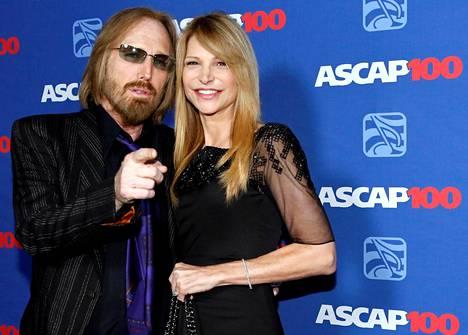 Tom Petty yhdessä vaimonsa Dana Yorkin kanssa vuonna 2014.