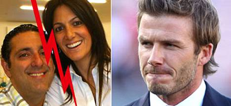 Joseph Kambiz väittää vaimonsa Shery Shabanin harrastaneen seksiä David Beckhamin kanssa.