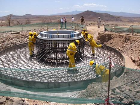 Peikko Group on ollut mukana hankkeessa Afrikassa.