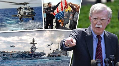 Kansallisen turvallisuuden neuvonantaja John Bolton on huolissaan Iranista, jossa mielenosoittajat ovat polttaneet viimeisen viikon aikana Yhdysvaltojen lippuja mielenosoituksissa. Lentotukialus USS Abraham Lincoln saattajineen lähetettiin Persianlahdelle reilu viikko sitten. MH-60R Sea Hawk -helikopteri on osa lentotukialuksen tukiryhmää.
