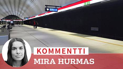 Matinkylän metroasema Espoossa oli hiljainen maanantaiaamuna.