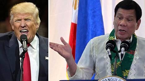 Rodrigo Duterte kertoi Trumpin kanssa käymästään keskustelusta Davao Cityssa lauantaina. Kuva perjantailta.