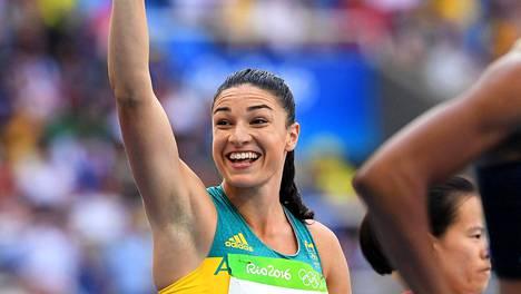 Michelle Jenneke jäi Riossa pahasti omasta ennätyksestään. Vielä ennen starttia hymyilytti.