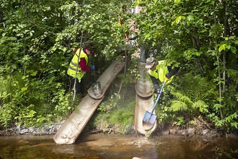 Tavoitteena on parantaa puroihin kotiutettavien lohikalojen elinympäristöä.