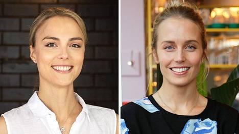 Kiira Korpi (vas.) ja Petra Wettenranta (o.s. Korpi) kertoivat uutuuspodcastissa muun muassa sisarussuhteestaan.