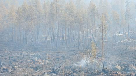 Haasteena Kalajoen paloalueella on ollut maasto, joka on ollut vaikeakulkuista ja kivikkoista.