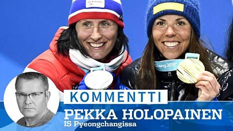 Norja ja Ruotsi tuottavat Marit Björgenin (vas.) ja Charlotte Kallan tasoisia supertähtiä jatkuvalla syötöllä.