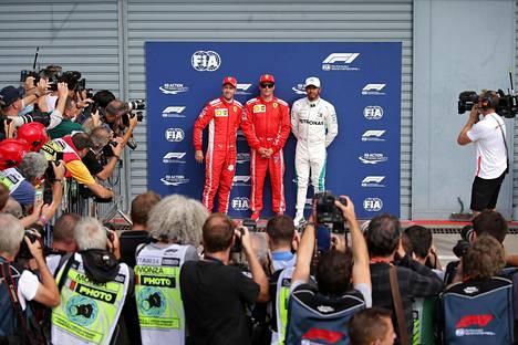 Kimi Räikkönen saavutti kauden ainoan paalupaikkansa syyskuun alussa Monzassa.