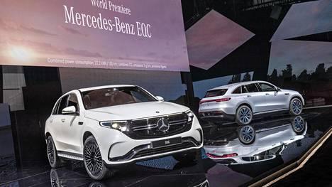 Mercedes-Benz EQC on yksi ensi vuoden sähköautouutuuksista.