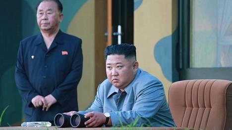 Pohjois-Korean johtaja Kim Jong-un arkistokuvassa.