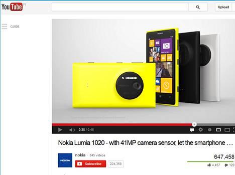 Nokian Lumiat kiinnostavat Youtuben katsojia, mutta Lumioilla Youtube-käyttäjäkokemus on kökkö.