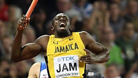 Usain Boltin jäähyväiskisa päättyi tuskalliseen loukkaantumiseen.