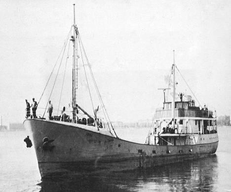 M/S Irma upposi matkalla Raumalle yli 50 vuotta sitten.