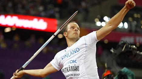 Tero Pitkämäki oli Lontoon MM-finaalissa viides.