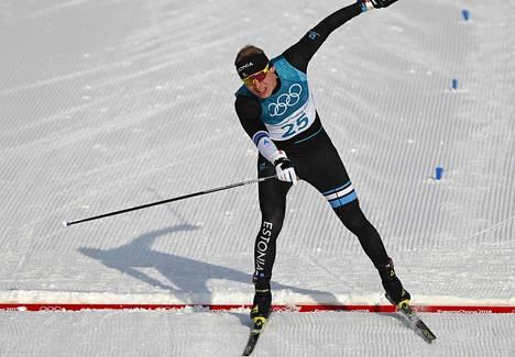 Karel Tammjärv oli toinen virolaishiihtäjistä, jotka jäivät kiinni Seefeldin MM-kisoissa 2019. Kuva Pyeongchangin olympialaisista 2018.