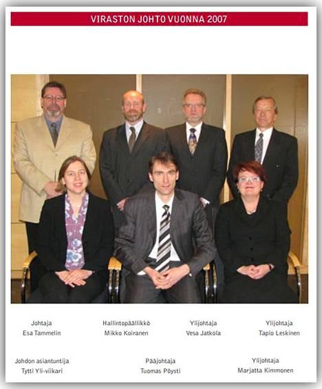 Tämä kuva VTV:n vuoden 2007 tilinpäätöksestä kertoo Pöystin mukaan osaltaan siitä, että Pöysti on antanut Yli-Viikarin asemasta oikean kuvan.