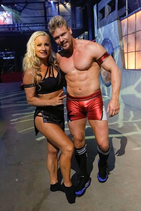 Gladiaattorit-ohjelman vauhdikkuus on sopinut urheilulliselle pariskunnalle erinomaisesti.