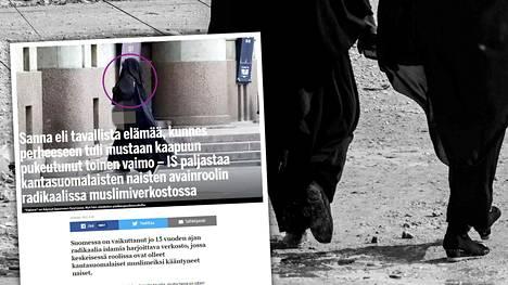 IS kirjoitti 30.3. Suomessa vaikuttaneesta, radikaalia islamia harjoittavasta verkostosta, jossa keskeisessä roolissa ovat olleet kantasuomalaiset muslimeiksi kääntyneet naiset.
